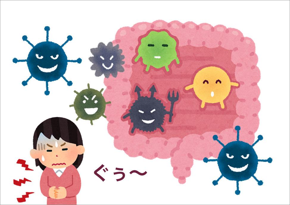 生活習慣が悪くなると活性酸素が発生しエンザイム(酵素)は減り、とたんに腸内環境が悪くなる