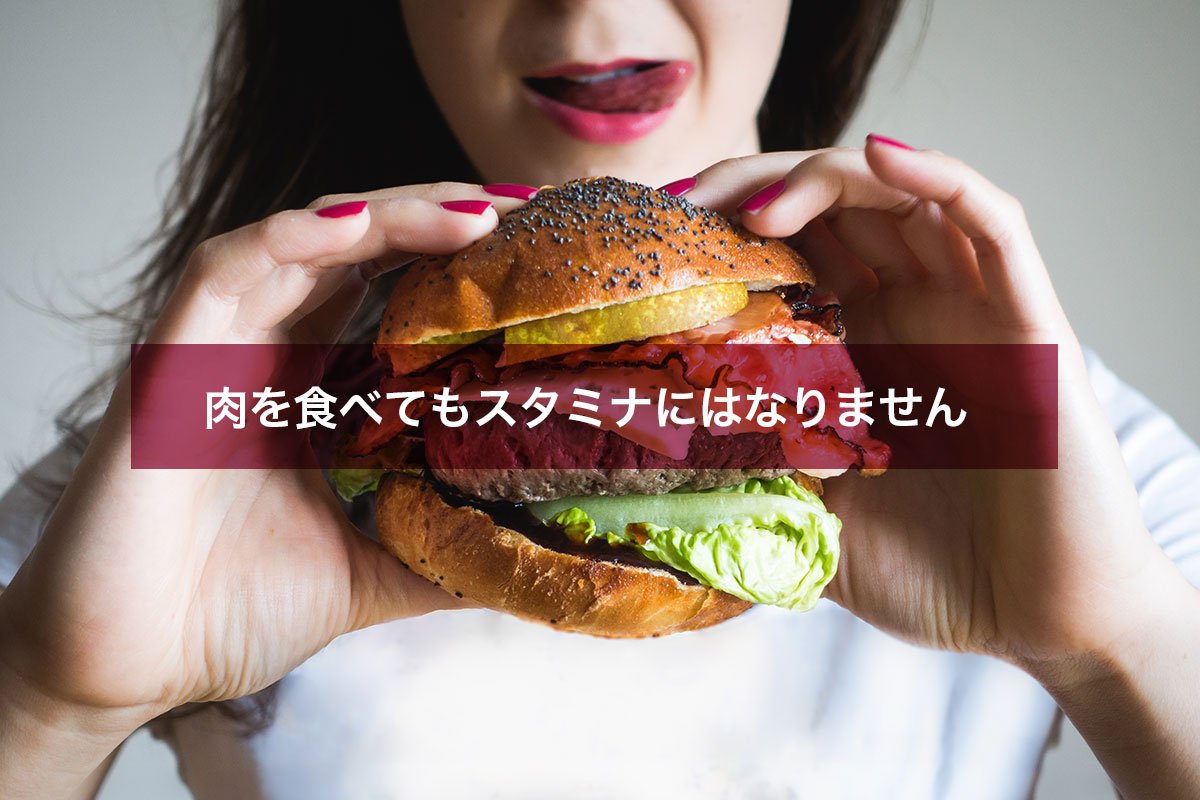 肉を食べてもスタミナにはなりません