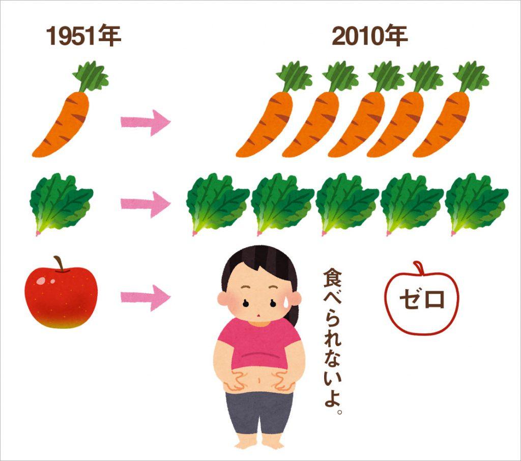 土壌のミネラル不足は、日本でも起きています