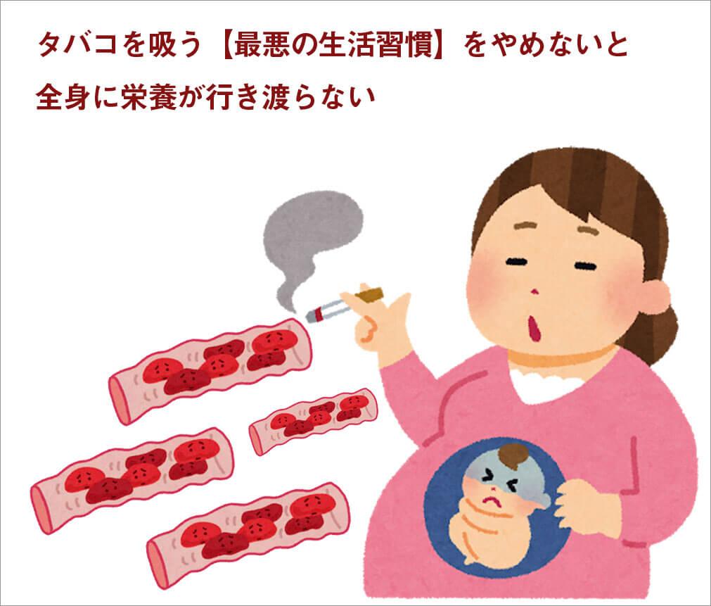 タバコを吸う【最悪の生活習慣】をやめないと全身に栄養が行き渡らない