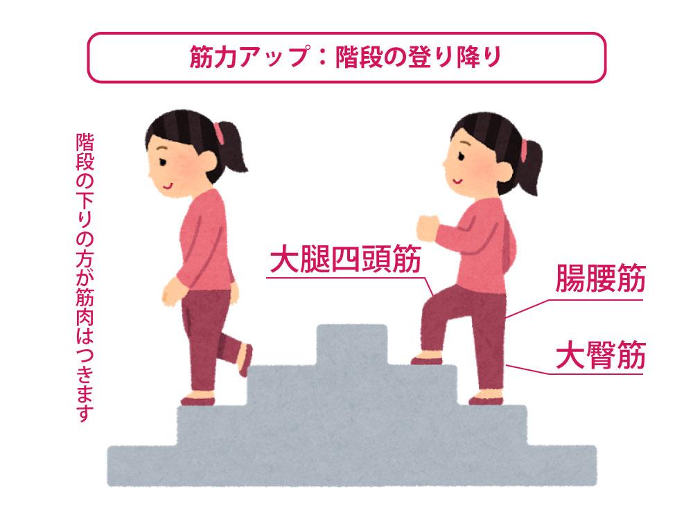 階段の上り下り