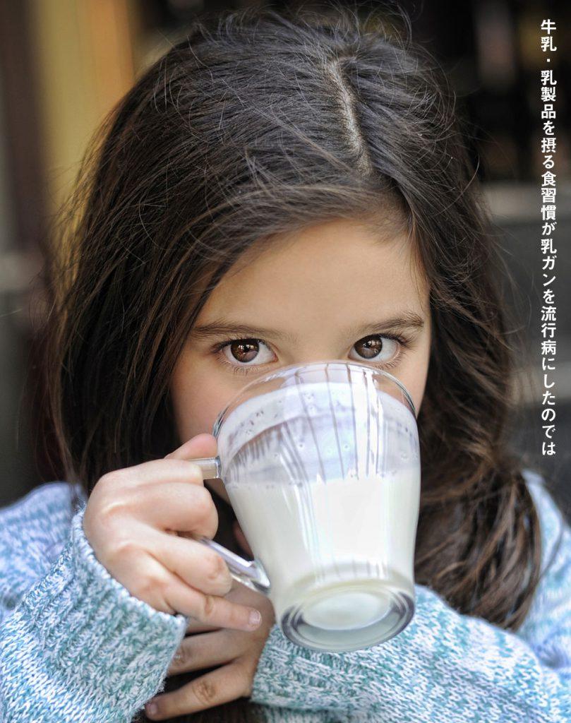 牛乳・乳製品を摂る食習慣が乳ガンを流行病にしたのでは