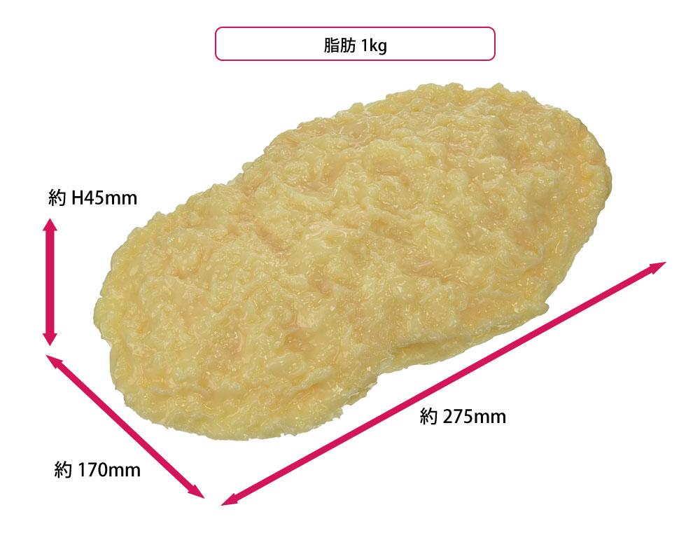 脂肪1kgは、以外と大きい
