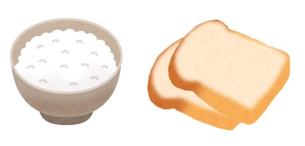ごはん1杯強、食パン2枚程度