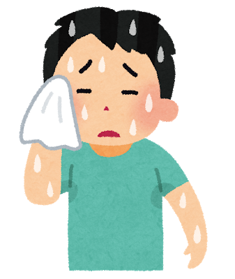 汗を大量にかくのも「かくれ脱水」の症状の一つ