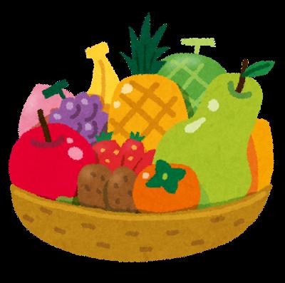 果物は、別名『水菓子』といわれるほど『糖分』を多く含んでいます