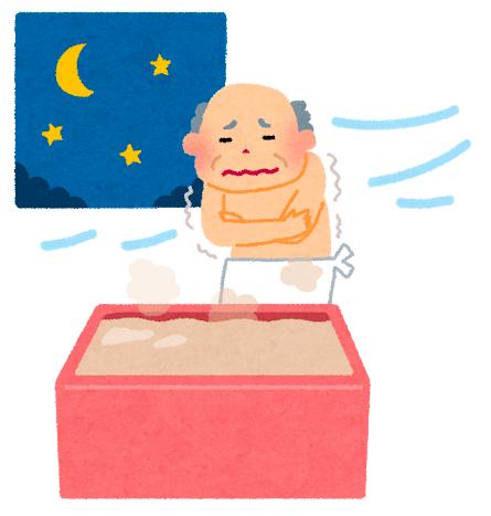昔の日本の家屋では、お風呂は家の外にあったので、 風邪を引いているときにお風呂に入るとカラダが冷えていた